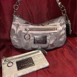 Coach Shoulder/Crossbody Bag & Wristlet Wallet